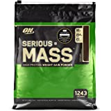 Optimum Nutrition Serious Mass Weight Gainer Protein Powder, Vitamin C, Zinc and Vitamin D for Immune Support, Chocolate, 12