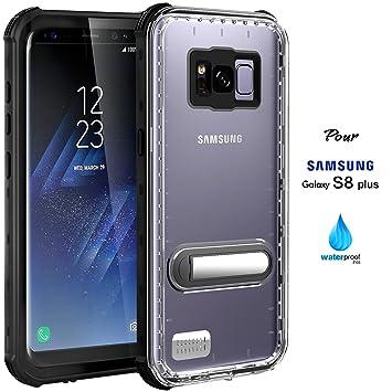 low price official shop new release Asakuki Coque étanche pour Samsung Galaxy S8 Plus, certifié IP68,  protection intégrale, résistance aux chocs, aux rayures, à la poussière,  coque avec ...