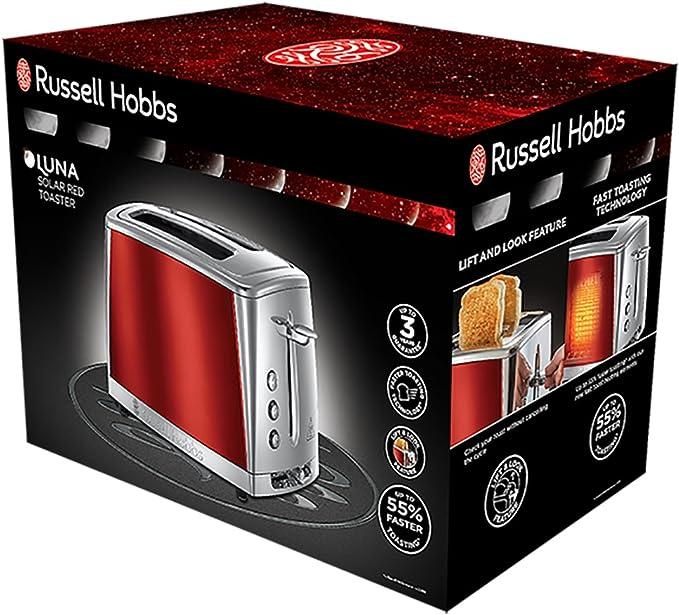 Russell Hobbs Luna Solar Red - Tostadora (2 Ranuras Anchas, para 4 ...
