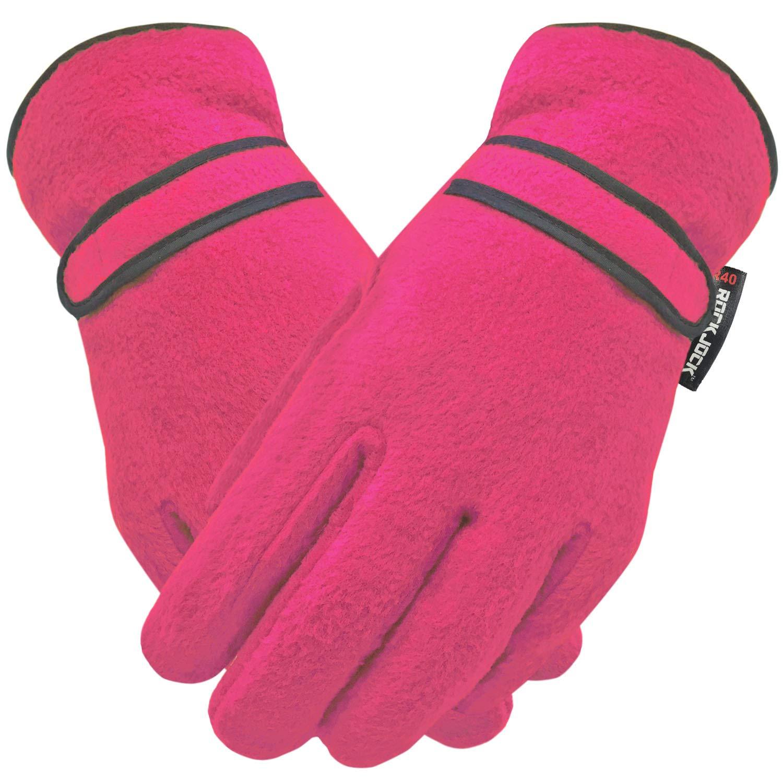 ROCKJOCK Kids Boys Girls Soft Warm Winter Fleece Gloves With High Performance R40 THERMAL Lining