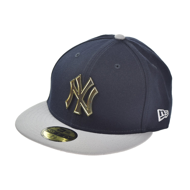 3aa2660e1d1583 MLB New York Yankees 2Tone Cap With Gold Metal Logo (Navy/Grey) (7 3/4) at  Amazon Men's Clothing store: