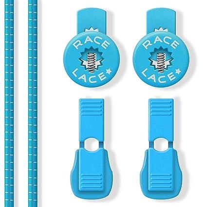 No Label Cordones Elásticos Azul - Cordones Elásticos Footing - Cordones Elásticos de Correr - Cordones