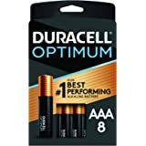 Duracell Optimum AAA Batteries | 8 Count Pack | Lasting Power Triple A Battery | Alkaline AAA Battery Ideal for Household and