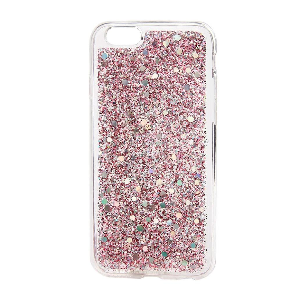 For I Phone 7 Plus Case, Hp95(Tm) Fashion Ultra Thin Bling Tpu Glitter Case Back Cover For Iphone7 Plus 5.5 Inch (Pink) by Hp95(Tm)