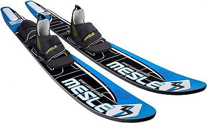 MESLE comboski sC hybrid blue 163 cm, le carving skis nautiques, 40 et 120  kg, b33 attaches: Amazon.fr: Sports et Loisirs