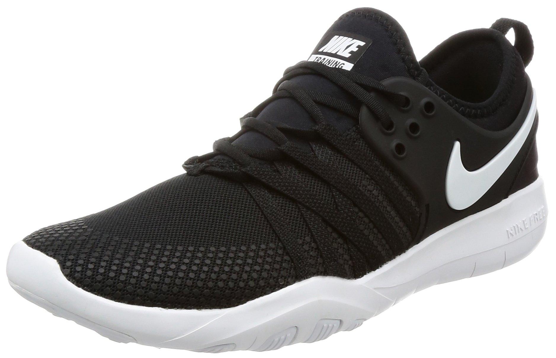 NIKE Free TR 7 Black/White Women's Cross Training Shoe, Size 8.5, Black/White