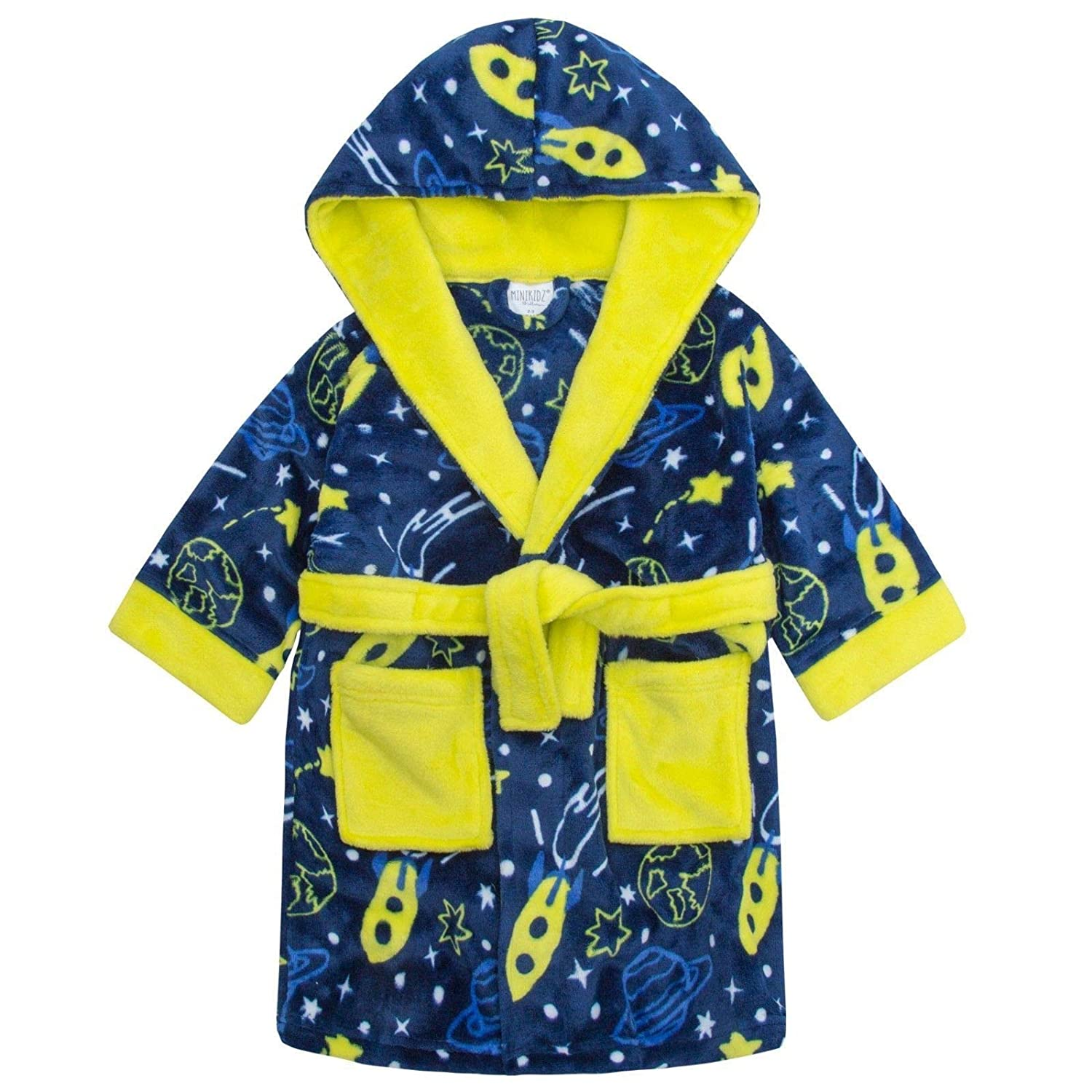 Boys Novelty Printed Dressing Gowns Bathrobes 2-6 Years
