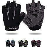 Grebarley - Guantes de ciclismo, guantes de bicicleta, guantes de gimnasio, guantes de montaña, antideslizante, almohadilla d