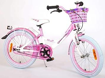 Bicicleta Niña Chica Rose 18 Pulgadas Cesta y Portabultos Rosa ...