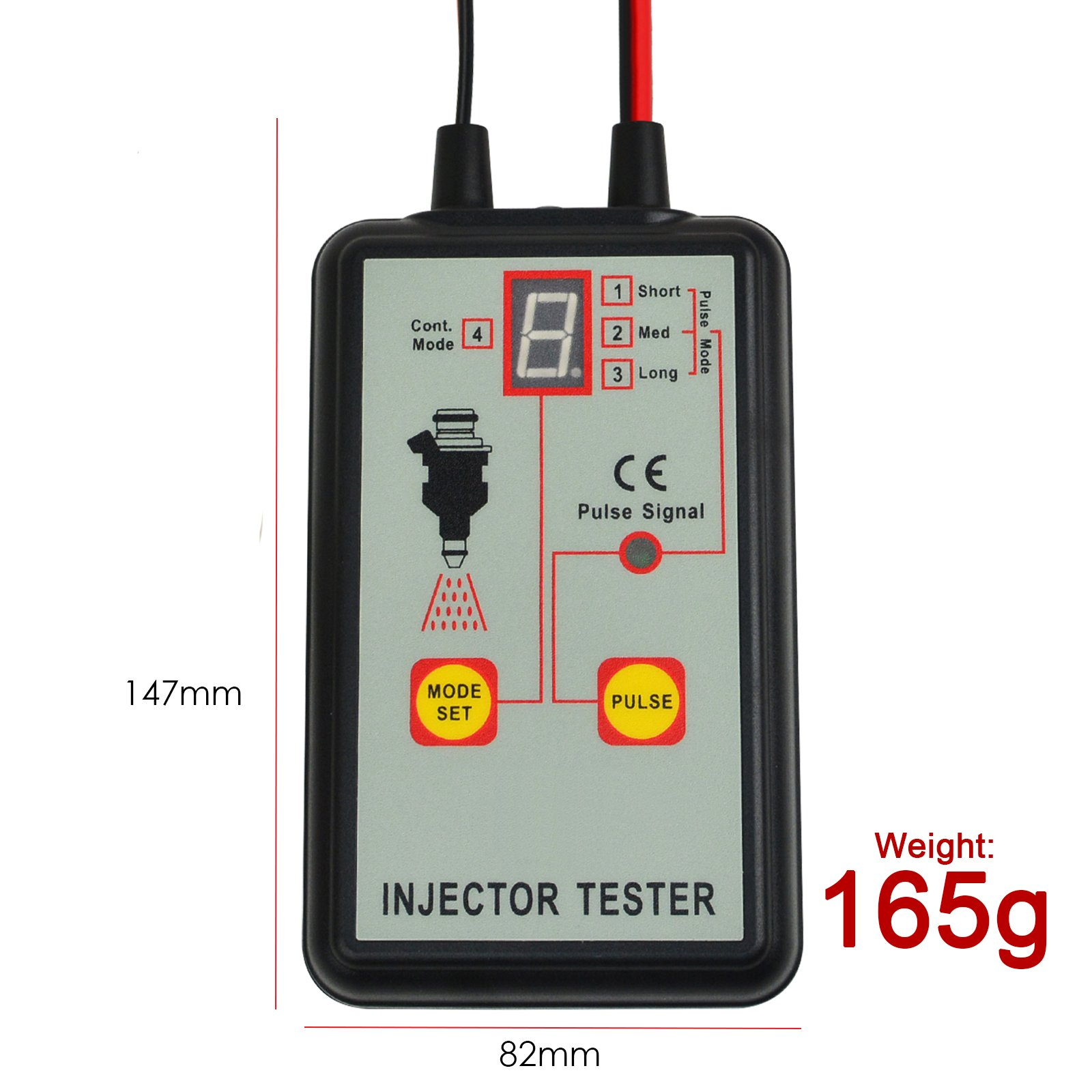 Automotive Fuel Injector Tester, 12V 4 Pulse Modes, Handheld Car Vehicle Fuel Pressure System Diagnostic Scan Testing Tool Gauge, Individual Test Stuck/Leaking/Burnt-out Problem by Gain Express (Image #6)
