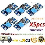 5pcs MT3608 2A MAX DC-DC Step Up Power Module Booster Power Module for Arduino |5 pz MT3608 DC - DC Step Up Power Applica modulo Booster 2 A Power Module per Arduino