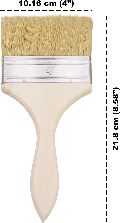 Pack de 12 Pegamentos Perfectas para Pared y Madera Juego Brochas Desechables Tintes Brochas para Pintar Gesso - Tama/ño 10,16cm Brochas Pintura Barniz