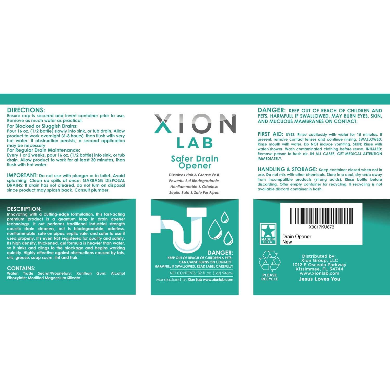Xion Lab Safer abridor de drenaje con pelo fuerza Industrial ...