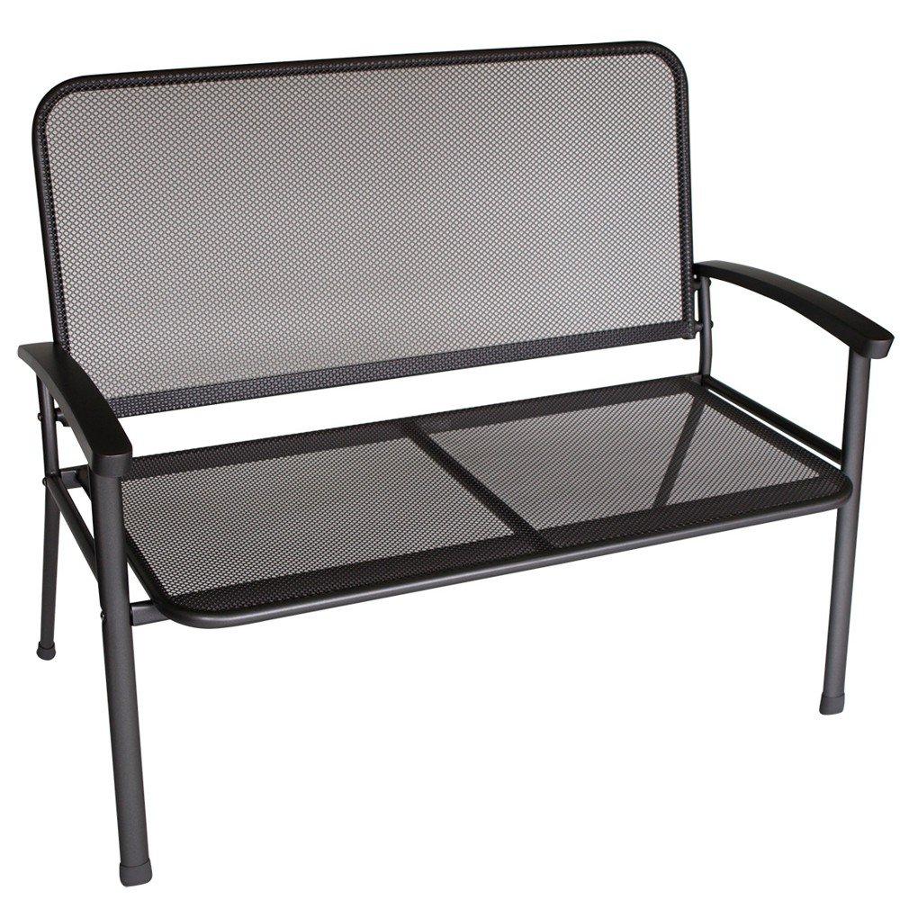 gartenbank rivo 2sitzer 117x65x92cm eisengrau beschichtet. Black Bedroom Furniture Sets. Home Design Ideas