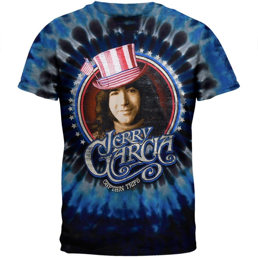 Jerry Garcia - Captain Trips Blue Tie Dye T-Shirt - Large