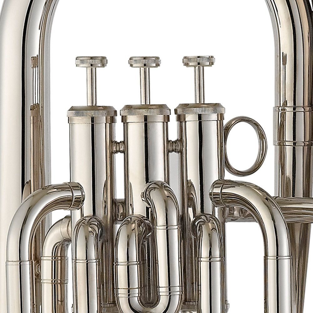 Estella EU200N Nickel Plated B Flat Euphonium with Stainless Steel Pistons by Estella (Image #5)
