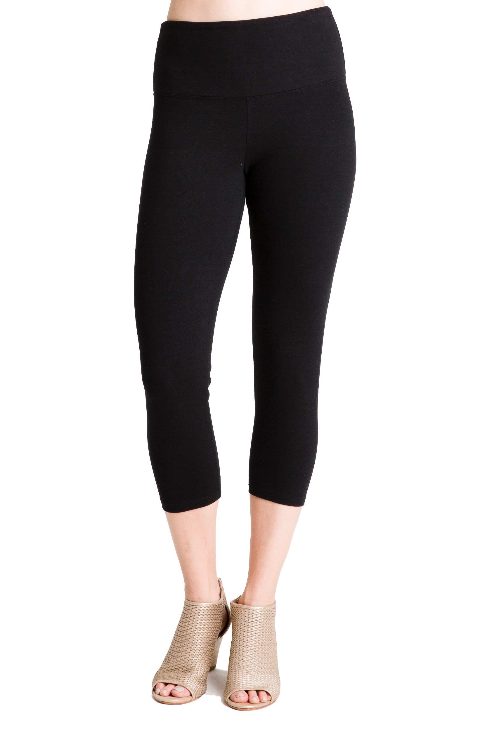 Intro Tummy Control High Waist Capri Length Legging BLK-PXL