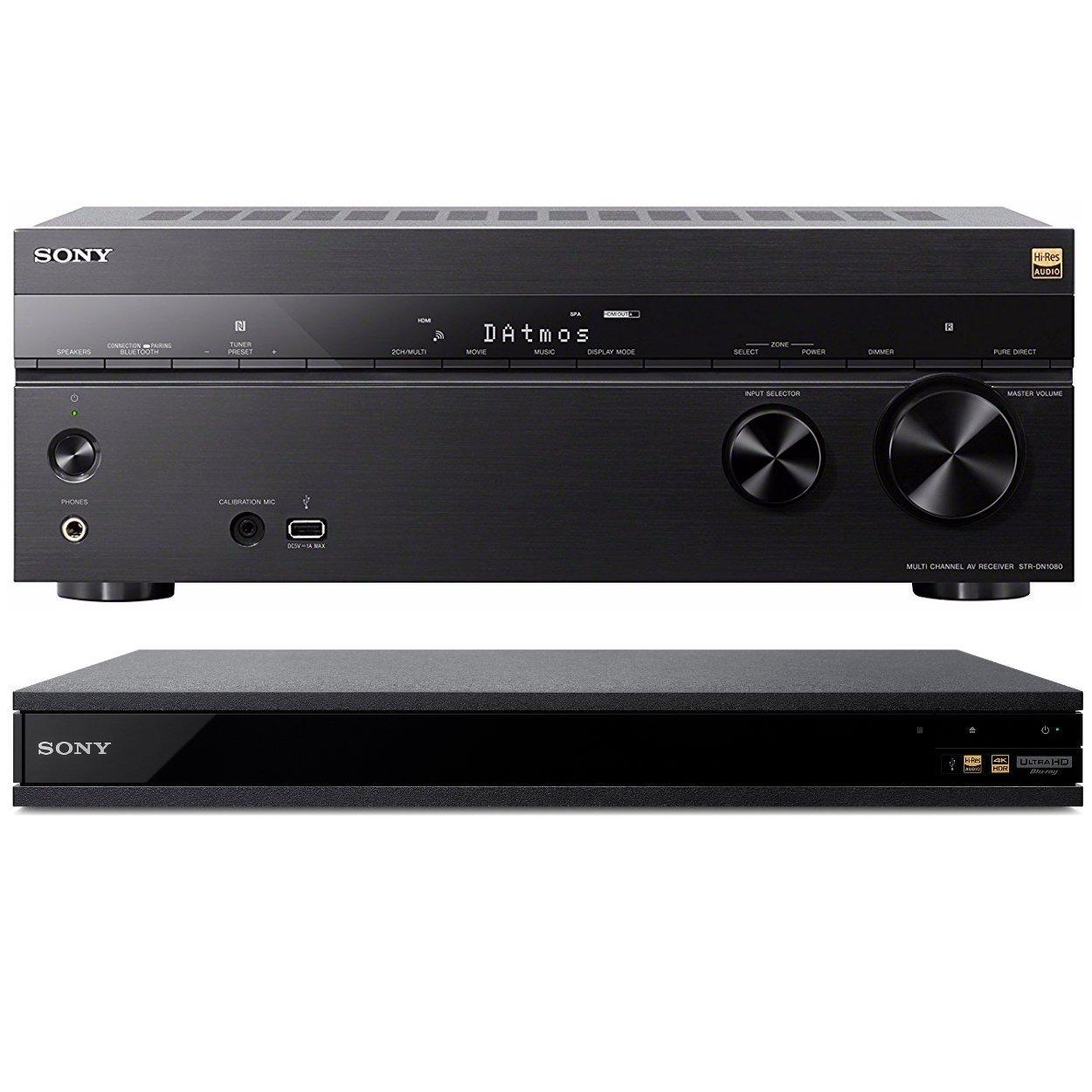 Sony 7.2 Dolby Atmos Wi-Fi Network Receiver Home Theater (STRDN1080) w/Sony UBPX800 4K Ultra HD Blu-ray (2017 by Sony