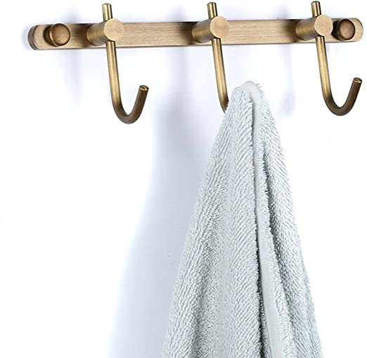 Kitchen Bathroom Single Towel Hook Rack Robe Clothes Coat Hanger Wall Mounted CB