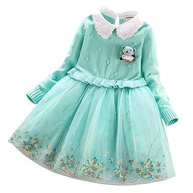Lserver Lserver Kinder Baby Mädchen Strick Pullover Kleid Winter