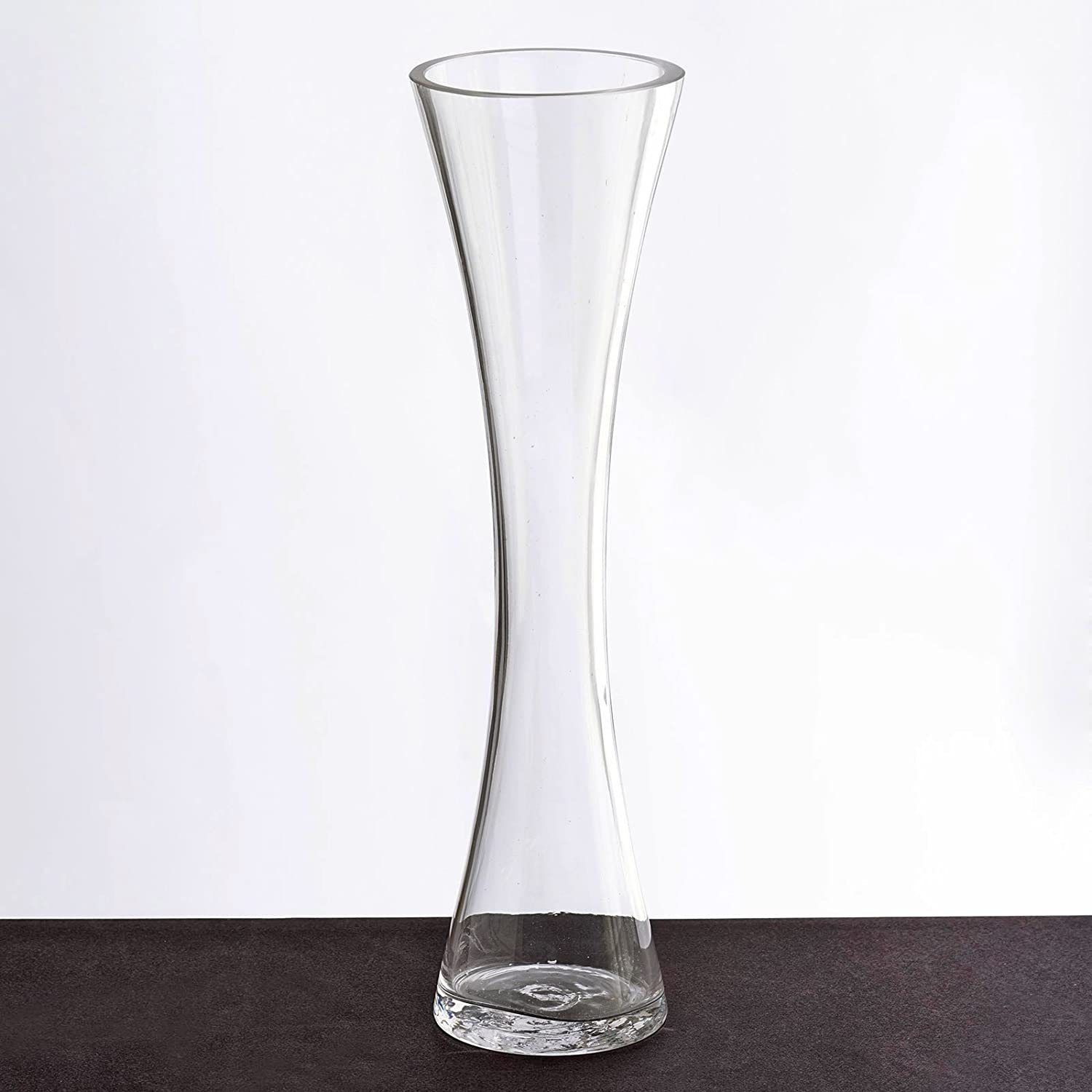 Amazon Com Balsacircle 12 Pcs 12 Tall Clear Glass Hourglass Vases For Wedding Party Flowers Centerpieces Home Decorations Cheap Bulk Supplies Home Kitchen