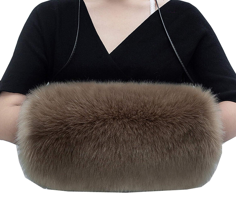 Ysting Hand Warmer Muff Hand Muff With Neck Cord Plush Portable Fashion Handwarmer For Girls In Winter