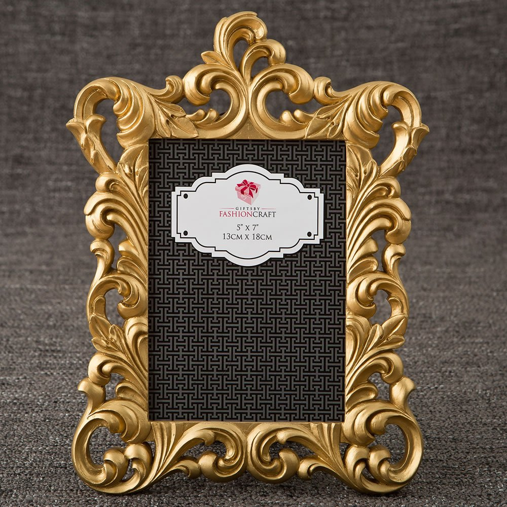 18 Gold Metallic Baroque Frames 5x7 From Gifts By Fashioncraft