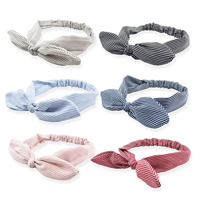 DRESHOW 6 Pack Bow Headband for Women Knotted Hair Band Facial Cloth Headbands best fashion headbands