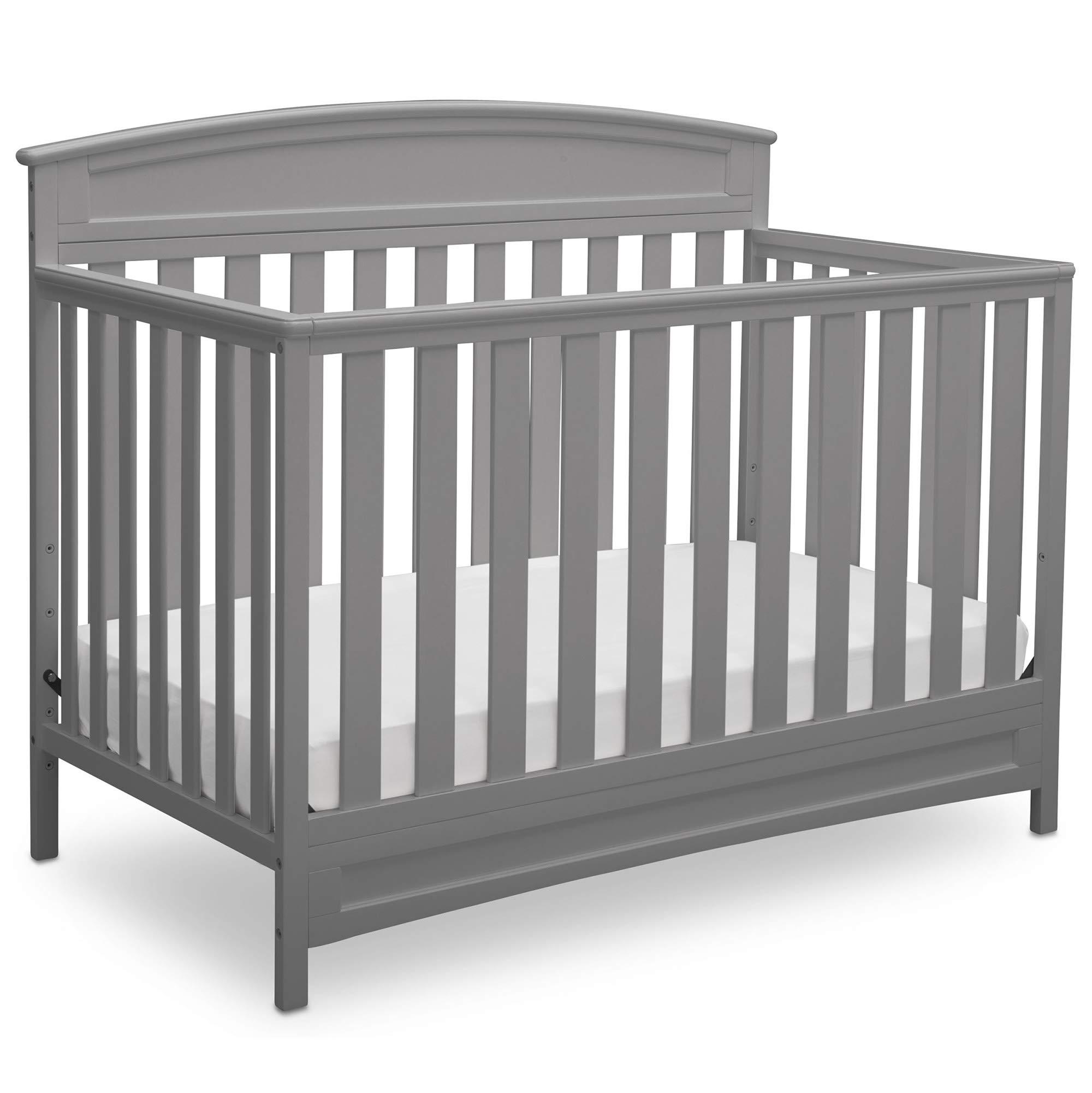 Delta Children Sutton 4-in-1 Convertible Baby Crib, Grey by Delta Children
