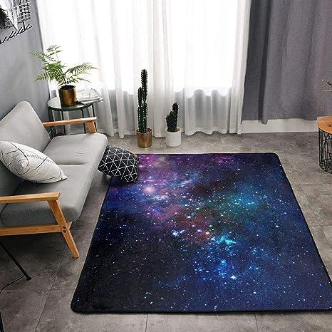 Amazon.com: YOUNG H0ME Blue Purple Galaxy Area Rugs, Bedroom ...