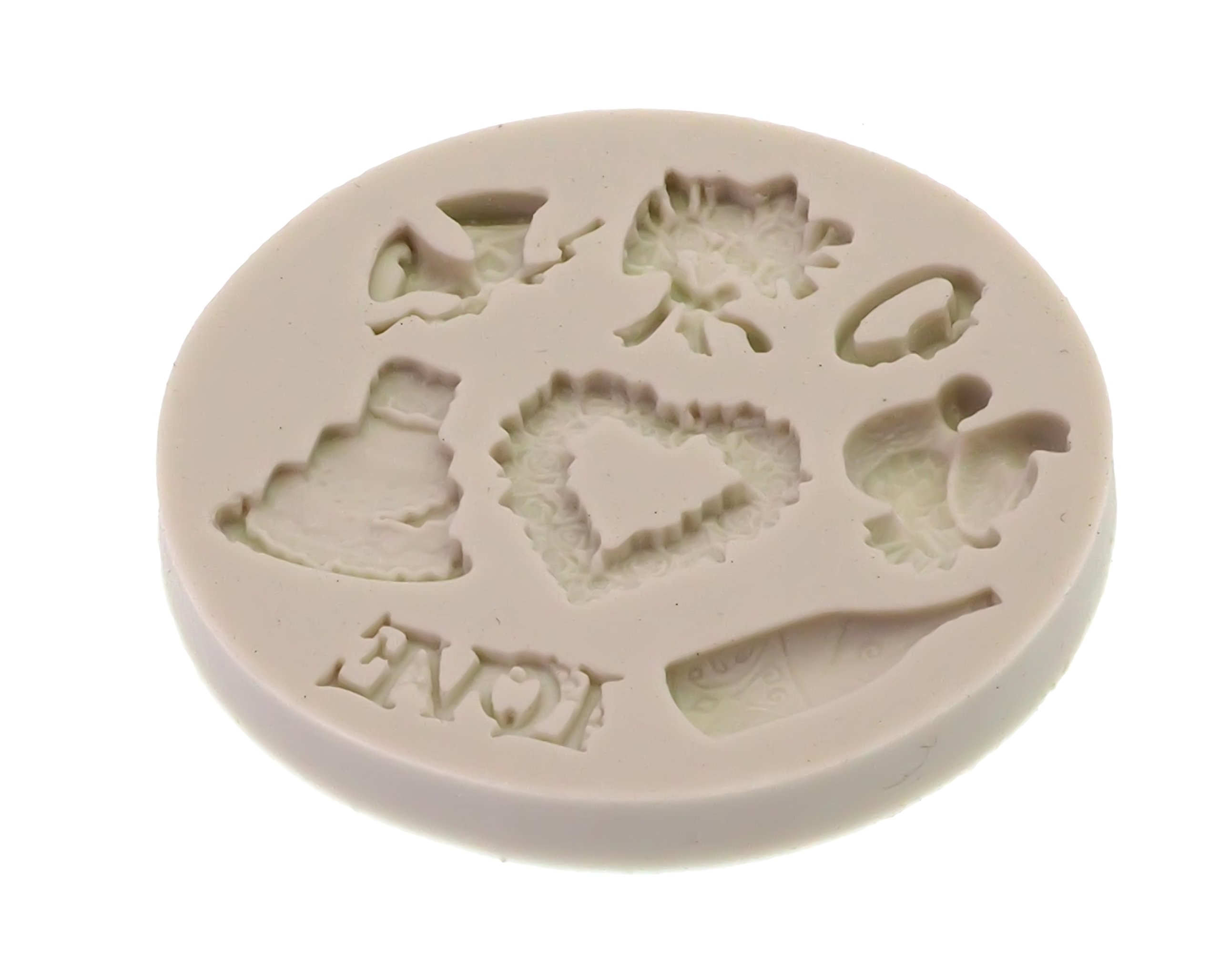 Creationtop Silicone Mold Teddy Bears Fondant and Gum Paste Candy Cake Baking Mold For Cake Decorating (Wedding Love) by CREATIONTOP (Image #2)