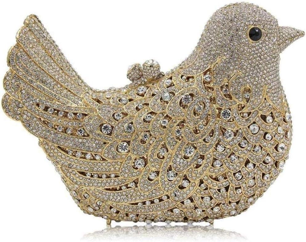 Pochette Scintillante da Donna Borsa da Trucco per Banchetti di Moda Borsa da Sera a Forma di Uccello Tote Ufficiale Portafoglio per Matrimoni Cocktail Party Improve E