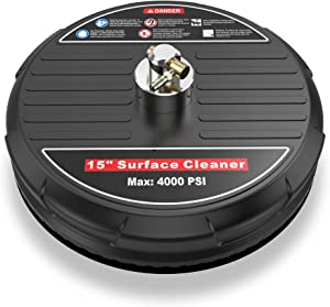 SYCEES 15-Inch 4000PSI Pressure Washer Surface Cleaner, Electric Power Pressure Washer with 2 Extension Wand,2 Replacement Screw Nozzle,4 o-Rings,1 Nozzle Cleaner,1 Teflon Tape