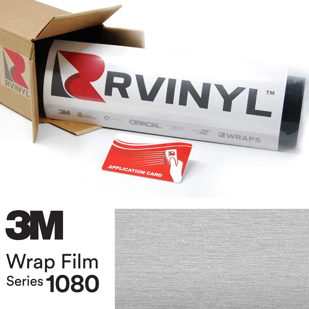 1//2ft x 5ft 3M 1080 Brushed Titanium Air-Release Vinyl Wrap Roll VViViD