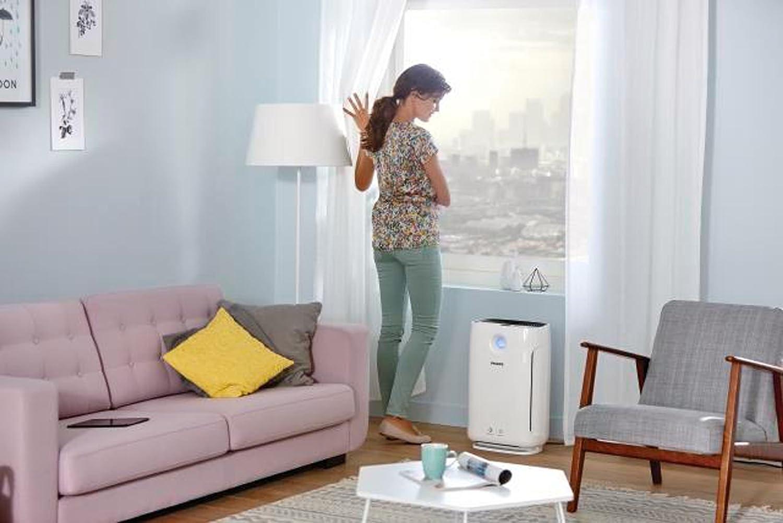 Luftwäscher-gegen-Viren-Philips-in-der-Wohnung-Wohnzimmer