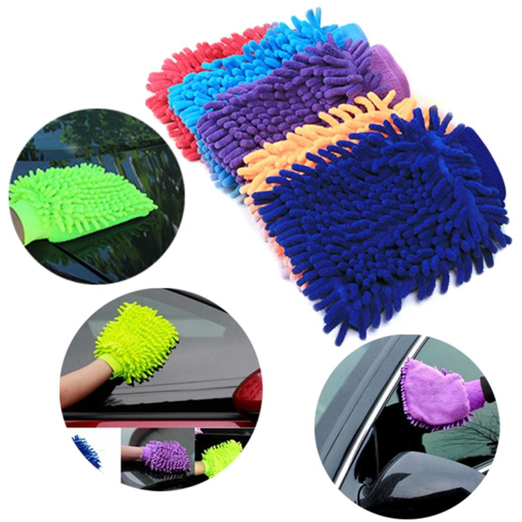 Easy Microfiber Car Kitchen Household Wash Washing Cleaning Glove Mit New cleaning products kit tools mop LHWY