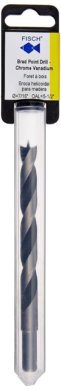 Fisch FSF-003847 Chrome Vanadium Brad Point Drill Bit 1//4-Inch
