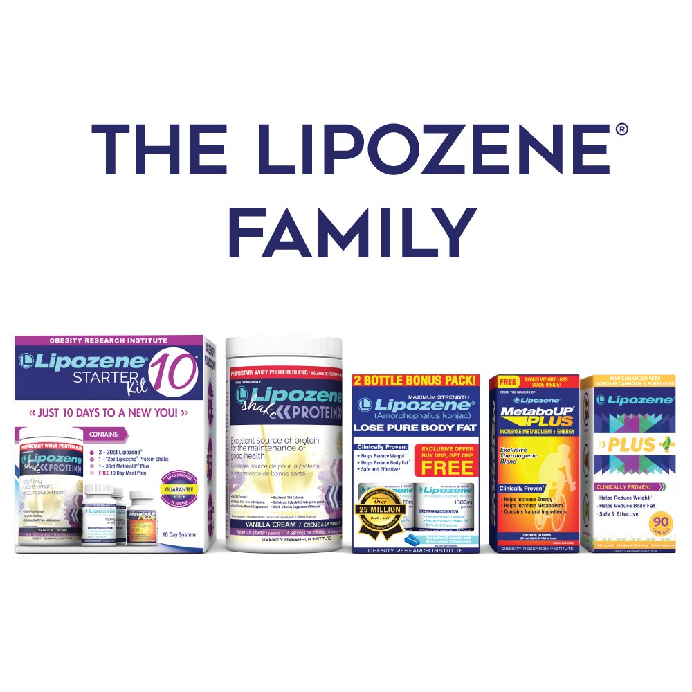 Lipozene Weight Loss Pills 2x30 Count Bottles with 30 Count MetaboUp Plus by Lipozene (Image #2)