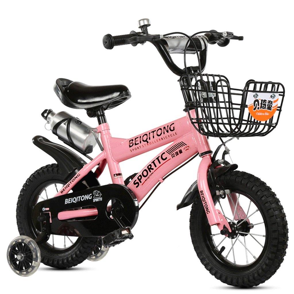 子供の自転車2-10歳の自転車の赤ちゃんの女の子の赤ちゃんのキャリッジ14/16/18/20インチ屋外の子供の自転車 (色 : ピンク ぴんく, サイズ さいず : 12インチ) B07DCH9KG8 12インチ|ピンク ぴんく ピンク ぴんく 12インチ