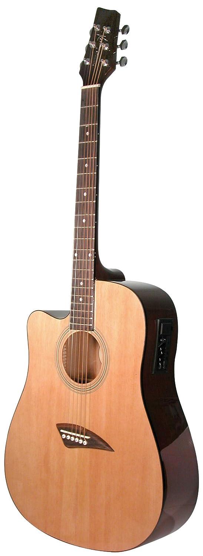 Kona Guitars K1EL Left-Handed Acoustic Electric Dreadnought Cutaway Guitar in Natural High Gloss Finish