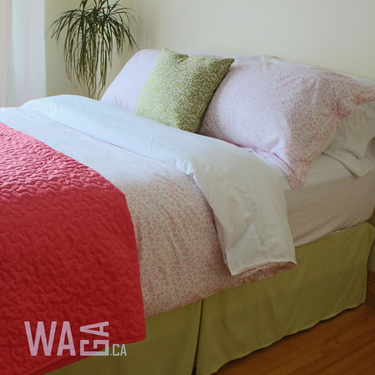 Waga Bed Skirt - Lime Green, King (78'' x 80'') by Waga (Image #2)