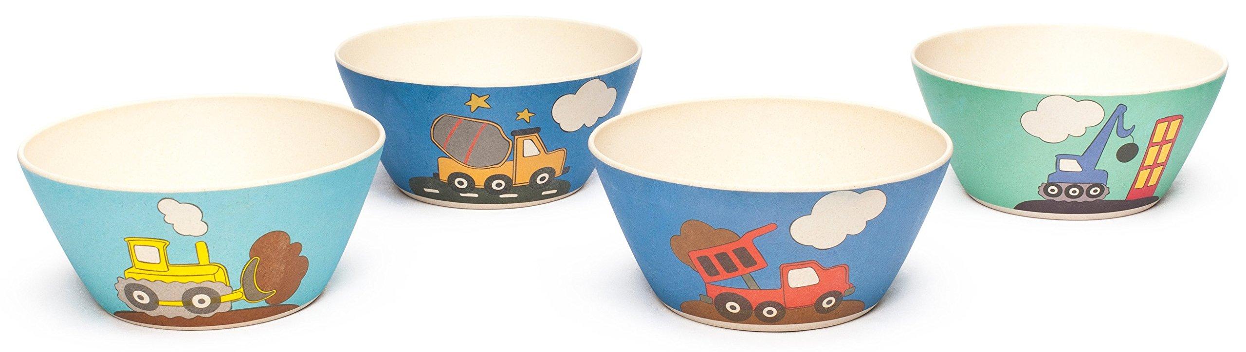 Bamboozle Tiny Footprints Construction Bowls Set of 4, 24 Piece