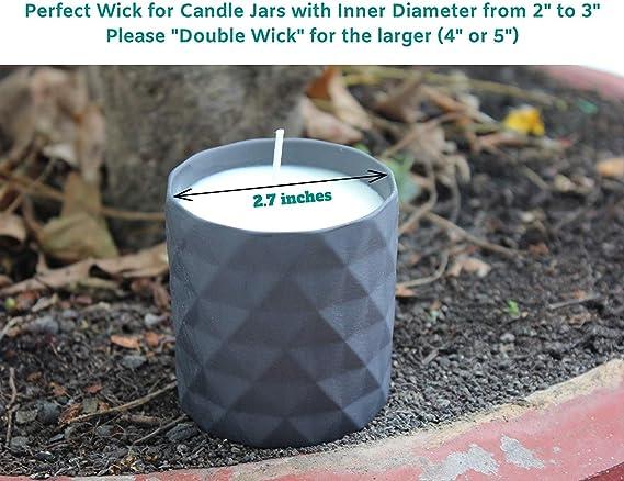 Amazon.com: Vela mechas para hacer velas de soja – 110 ...