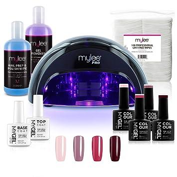SeriesPrep para de convexo Mylee PRO inferiorlámpara uñas4x colores superior Mylee curado barniz LED MYGELcapa LED Kit Profesional e de YgvI7bfy6