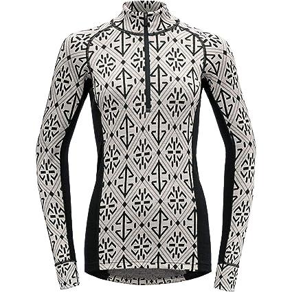 Devold Liadalsnipa Half Zip Neck Shirt Damen raw White 2019