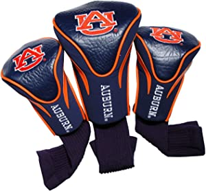 Team Golf NCAA Contour Golf Club Headcovers (3 Count), Numbered 1, 3, & X, Fits Oversized Drivers, Utility, Rescue & Fairway Clubs, Velour lined for Extra Club Protection