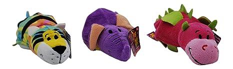 "FLIPZEES Little 5/"" Emily ELEPHANT Lush LION 2-in-1 Stuffed MINI FLIPAZOO FLIPZEE"