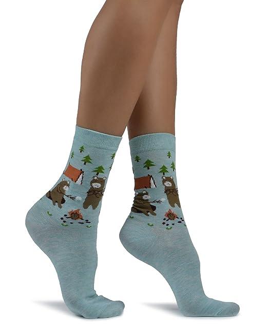 Mixmi Boutique Calcetines azules del tobillo Osito de peluche Osos Picnic