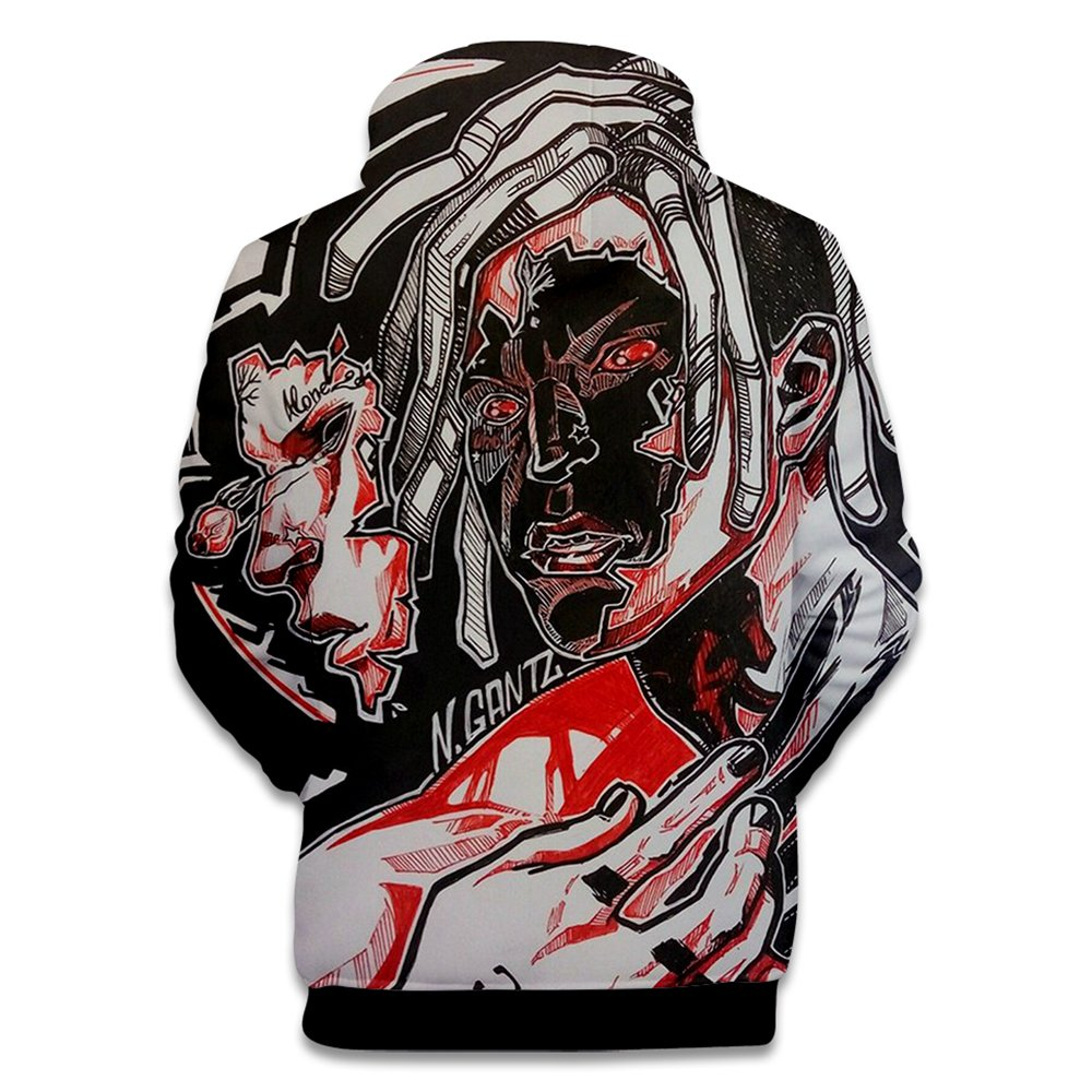 EnjoyYourLife Xxxtentacion Abbigliamento 3D Felpe Sportive con Cappuccio Rapper Portrait RIP X Sad Day Hoodie Hooded Pullover