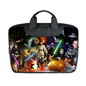 INSTALL AND EASY TO CARRY Wear& Slim &Dapper Star Wars Poster Custom Waterproof Nylon Bag for Laptop 13Inches(Twin sides)
